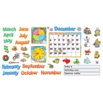 Bb Set Monthly Calendar Cling Pcs