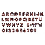 Bright Red Ready Letters 4in Upper Case Neon Font