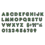 Bright Green Ready Letters 4in Uppercase Neon Font