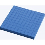 Didax Base Ten Hundred Flat (Plastic): Set of 10, Grades 2-6