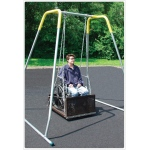 SportsPlay ADA Swing Platform with Frame: Juvenile with To From Hanger, Permanent