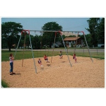 SportsPlay 10' Heavy Duty Modern Tripod Swing: 4 Seats - Playground Swing Set