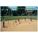 SportsPlay 10' Modern Tripod Swing: 4 Seats - Playground Swing Set