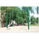 "SportsPlay 4.5"" OD Single Post Swing: 2 Seats - Playground Swing Set"