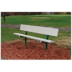 SportsPlay™ Permanent Park Bench with Seat Only: Aluminium, 6'