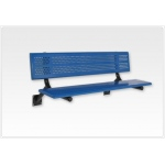 SportsPlay™ Team Bench with Back: 10' Beveled Perforated