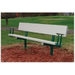 SportsPlay™ Bench with Arms: Permanent, 6'