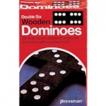 Didax Wooden Double-Nine Dominoes: Set of 55, Grades 1-12
