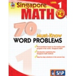 Didax Singapore Math: 70 Must-Know Word Problems - 1, Grades 2+