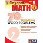 Didax Singapore Math: 70 Must-Know Word Problems - 2, Grades: 3+