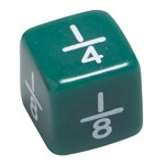 Didax 144 Fraction Dice - Volume Pricing: Grades 3-8