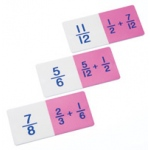 Didax Basic Addition Fraction Dominoes: Grades 3-8