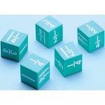 Didax Easyshapes Fraction Dice: Set of 5, Grades 3-8