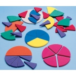 Didax Easyshapes Fraction Circles: Grades 2-8