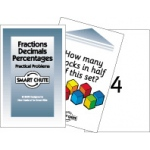 Didax Fractions, Decimals, Percentages Card Set: Grades 2-5