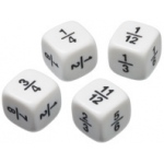 Didax More Fraction Dice: Set of 6 (11 Fractions), Grades 4-6