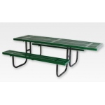 "SportsPlay Wheelchair Accessible Rectangular Table: 2 3/8"" Walk Through, 8' Rolled Perforated"