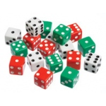 Didax Dot Dice:G490 Set of 12, Grades 1-8