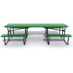 "SportsPlay Wheelchair Accessible Picnic Table With Center Entry: Heavy Duty 2 3/8"" OD Pipe Frames"