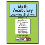 Didax Instant Math Centers: Math Vocabulary 1, Grades 3-4