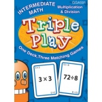 Didax Triple Play Math Games-Intermediate Math: Grades 2-4