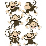 Monkeys 6in Designer Cut Outs
