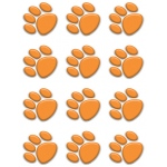 Orange Paw Prints Mini Accents