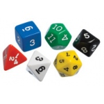 Didax Polyhedra Dice, Set of 60 - Volume Pricing: Grades 3-8