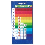 Didax Double-Sided Graphing Pocket Chart: Grades 1-6