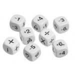 Didax Positive & Negative Number Dice: Plastic, Grades 3-8, Set of 8