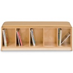 Jonti-Craft Bench Locker: 5 Sections, Camel Cushion