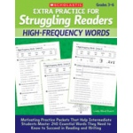 Didax Extra Practice for Struggling Readers: High-Frequency Words, Grades 3-6