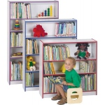 "Jonti-Craft Rainbow Accents Bookcase: 3 Shelves, 48"" High, Yellow"