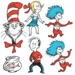 Large Dr Seuss Characters 2-Sided Deco Kit