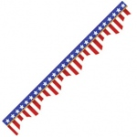 American Flags-Electoral Scalloped Deco Trim