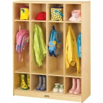 Jonti-Craft Coat Locker With Step: 4 Sections
