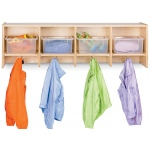 Jonti-Craft Coat Locker with Clear Tubs Included: 4 Sections