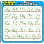 Modern Manuscript Alphabet 4in Learning Stickers 20 Per Pack