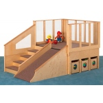 Jonti-Craft Tiny Tots Loft with 6 Bins: 12 to 24 Months