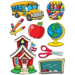 More School Supplies 12x17 Window Clings