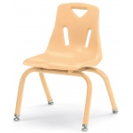 "Jonti-Craft Berries Plastic Chair with Powder Coated Legs: Green, 12"" Height"