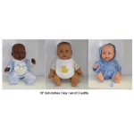 Doll Clothes Set Of 3 Boy Outfits