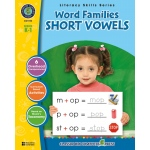 Classroom Complete Regular Education Book: Word Families - Short Vowels, Grades - K, 1