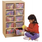 Jonti-Craft 10 Tray Mobile Storage without Trays