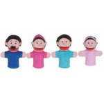 Family Bigmouth Puppets Hispanic Family Of 4