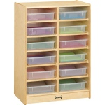 Jonti-Craft 12 Paper-tray Cubbie with Colored Paper-trays