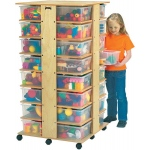 Jonti-Craft 32 Cubbie Tower with Clear Tubs