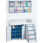 Jonti-Craft Diaper Changer Combo Right: Blue