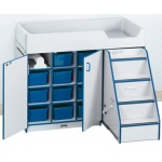 Jonti-Craft Diaper Changer with Stairs Left: Blue