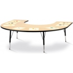 "Jonti-Craft Toddler Horseshoe KYDZ Activity Table: Maple Top, 11"" to 15"" High"